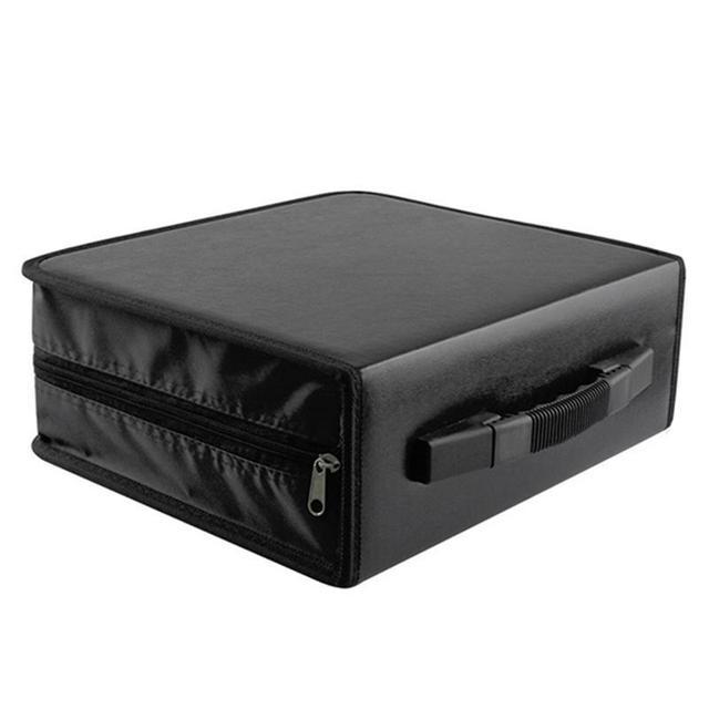 OUNONA 288 Disc CD DVD Case Holder Storage Bag Album Holder Box Cover  Carrying Organizer Disc