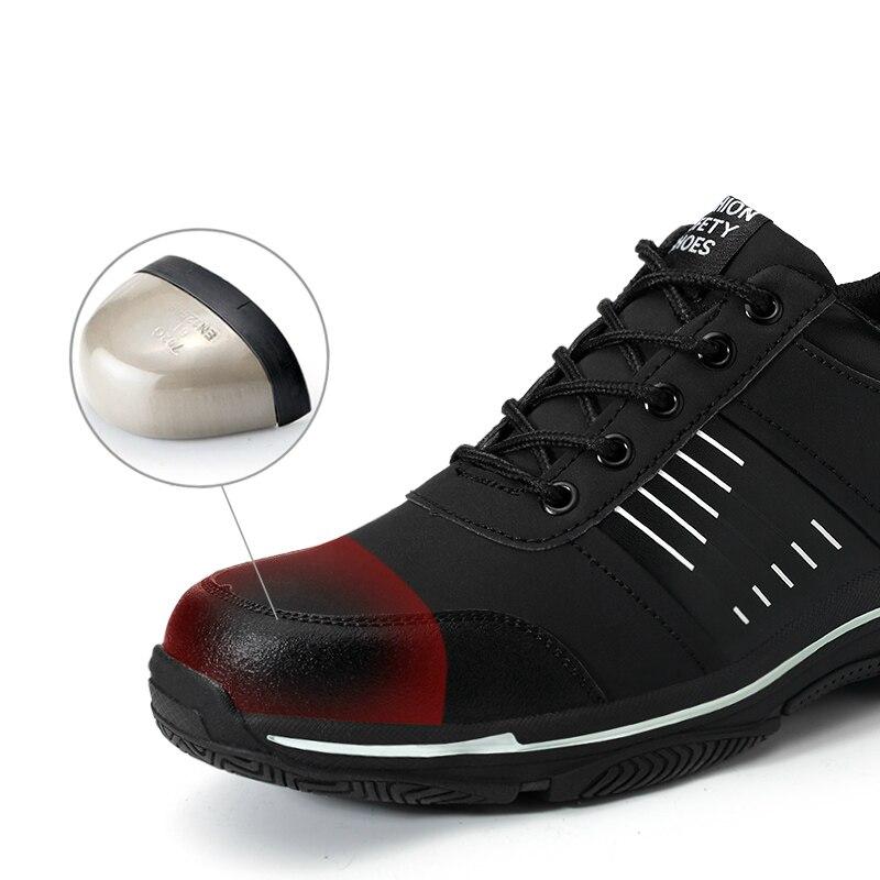 Hommes Outillage Chaussures Couvre Acier Plus Automne Sécurité Travail Respirant De Bottes Orteil Mode La Cuir En Des Printemps Taille Mâle Véritable zw0wqUPt