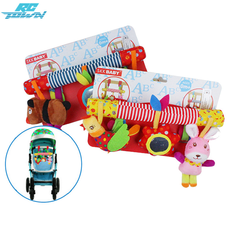 RCtown Multifunctional Baby Kids Car Pram Hanging Toy Cute Animal Music Crib Plush Toy Gift zk30