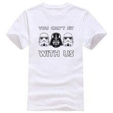 Новый Звездные войны Футболка Дарт Вейдер Футболки Мужчины Забавный Дизайн шаблон Мужская рубашка Хлопок Звездные войны шею Тис Рубашка #961
