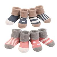 Autumn Winter High Quality Newborn Infant Cotton Socks For Baby Girl Thickened Warm Terry Socks Toddler
