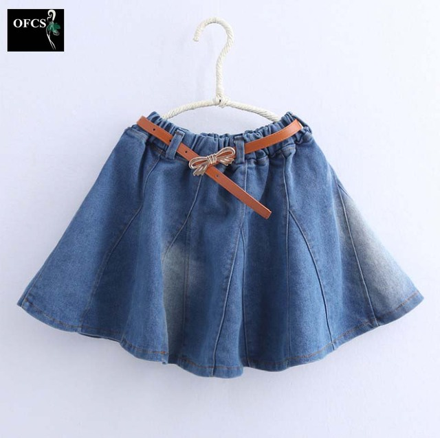 8d894a280 Niñas Mezclilla Faldas Mini Niños Pettiskirt para el Bebé Lindo de Princesa  Ruffle Jeans Partido Encantador