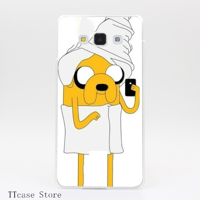 1928CA Jake With Bathrobe Adventure Time Transparent Hard Cover Case for Galaxy A3 A5 A7 A8 Note 2 3 4 5 J5 J7 Grand 2 & Prime