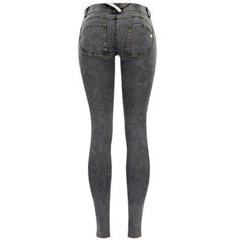 Sexy Low Waist Jeans Woman Peach Push Up Hip Skinny Denim Pant  Boyfriend Jean For Women Elastic Leggings grey Jeans Plus Size 4