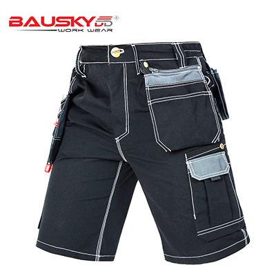 New High quality men's summer work short workwear multi pockets short work pant work short trousers free shipping 1