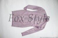 Sexy erwachsene ärmel latex kleider in trasparent lavendel