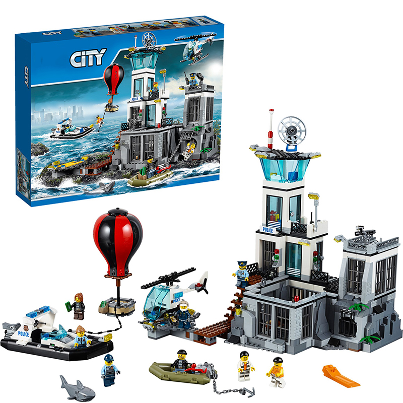 Lepin 02006 Prison Island building bricks blocks Toys for children boys Game Model Car Gift Compatible with Bela Decool 60130 lepin 02012 city deepwater exploration vessel 60095 building blocks policeman toys children compatible with lego gift kid sets
