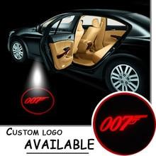 СИД автомобиля Добро Пожаловать Led Дверь Шаг Первый Проектор Призрак Тень Свет для 007 Джеймс Бонд ГОБО Логотип Свет #2197 красный