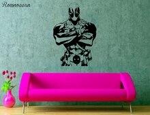 Superhero Wall Sticker Action Film Vinyl Decal Deadpool Mural Comics Interior Pattern Art Decor Teens Room Poster SP26