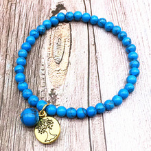 Women Charm  Bracelet Blue Turquorse 4 mm Bead 18 cm Long Hand Make Jewelry 2019 New Hot Sale For Bar Holiday Bracelets