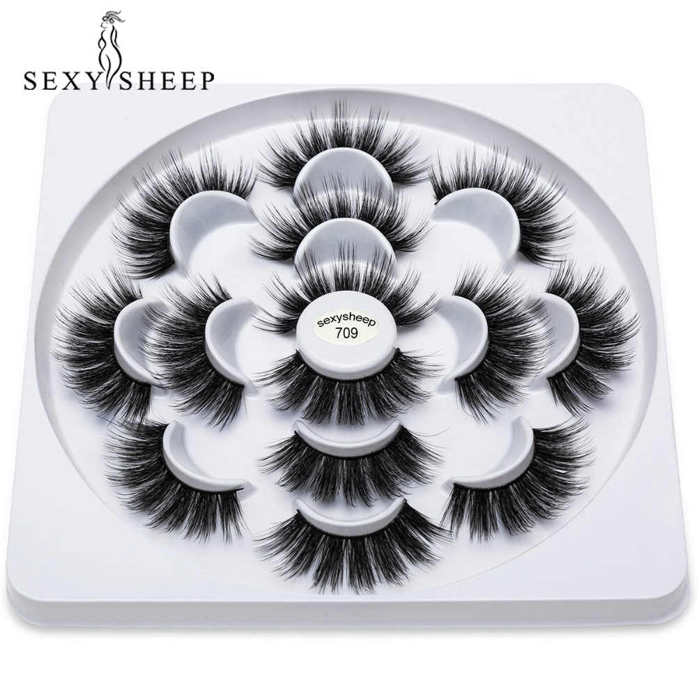 757fd32c389 7 Pairs Natural False Eyelashes Hand Made Fake Lashes Long Makeup Popular  3d Lashes Eyelash Extension