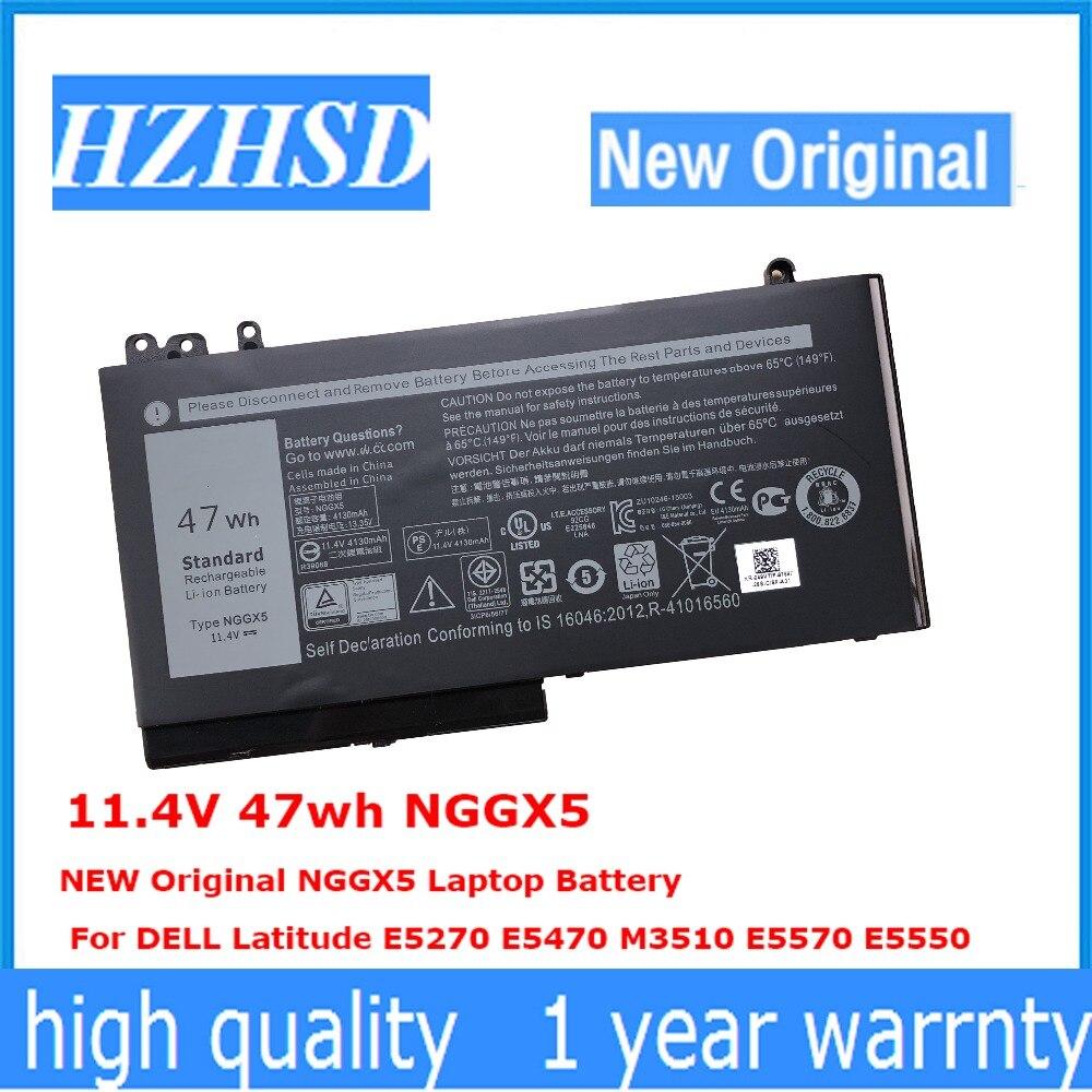 11.4V 47wh NGGX5 NEW Original NGGX5 Laptop Battery For DELL Latitude E5270 E5470 M3510 E5570 E5550 RDRH911.4V 47wh NGGX5 NEW Original NGGX5 Laptop Battery For DELL Latitude E5270 E5470 M3510 E5570 E5550 RDRH9