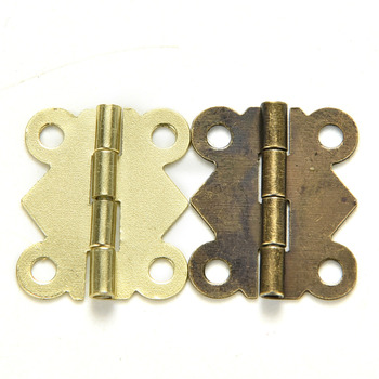 Hot Deals 10pcs 20mm X17mm Bronze Gold Silvers Cabinet Drawer Jewellery Box  Hinge Mini Butterfly Door Hinge For Furniture Hardware