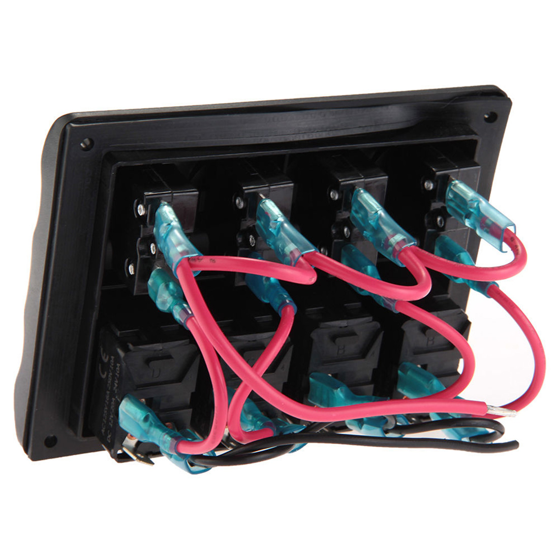 dewtreetali brand new marine boat 4 gang led waterproof toggle rh aliexpress com wiring diagram for rocker switch panel painless wiring toggle switch panel