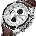 Megir бренд кварцевые для мужчин часы модные пояса из натуральной кожи хронограф часы для нежный для мужчин мужской студентов Reloj Hombre 2015
