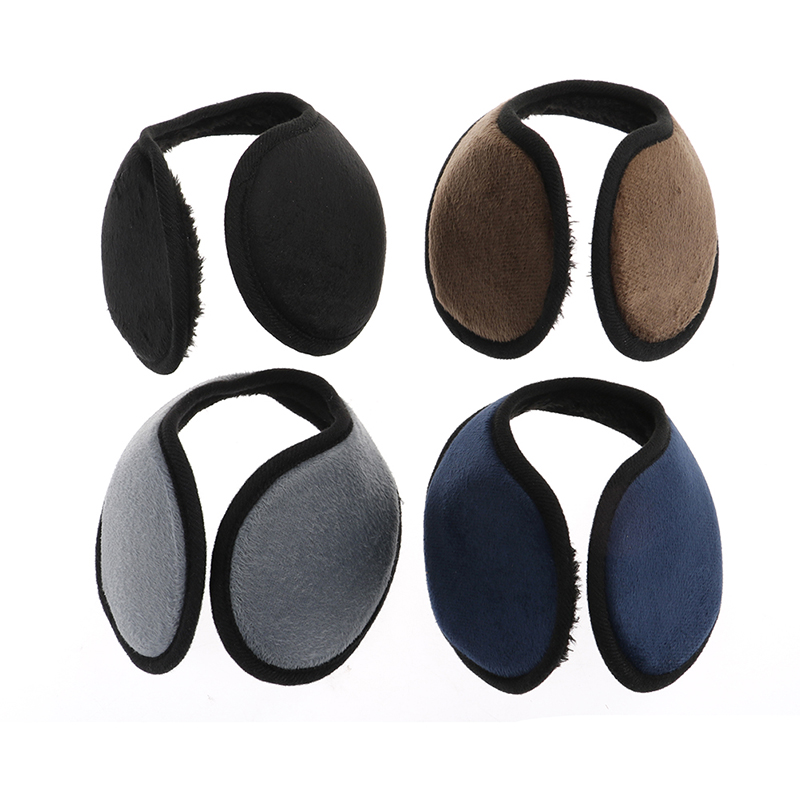 1PCS Black/Coffee/Gray/Navy Blue Earmuff Unisex Earmuff Winter Ear Muff Wrap Band Ear Warmer Earlap Gift Apparel Accessories