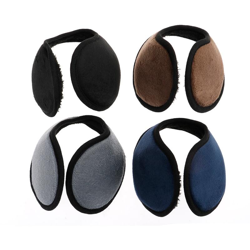 1PCS Black/Coffee/Gray/Navy Blue Earmuff Unisex Earmuff Winter Ear Muff Wrap Band Ear Warmer Earlap Gift Apparel Accessories