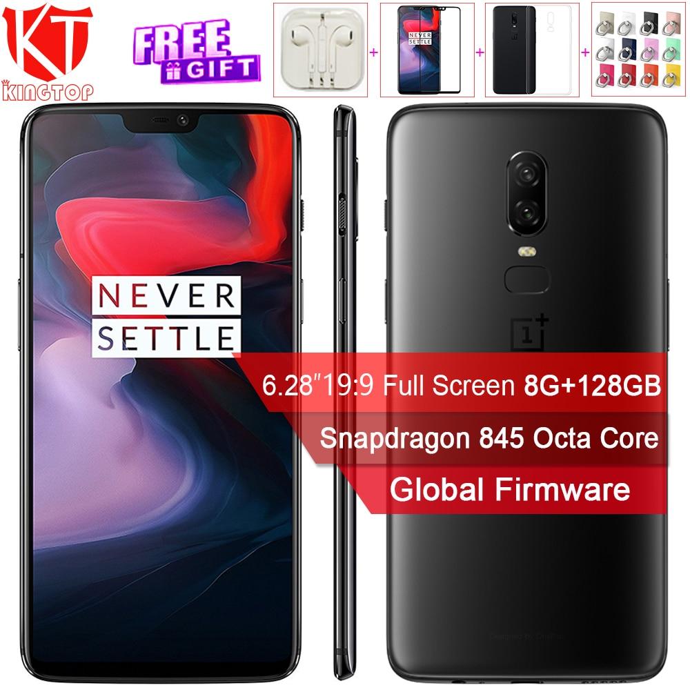 Oneplus originale 6 Del Telefono Mobile 6.28 ''Pieno schermo 8 GB di RAM 128 GB di ROM Snapdragon 845 Dual Camrea 20 + 16 MP Android 8.1 NFC telefono