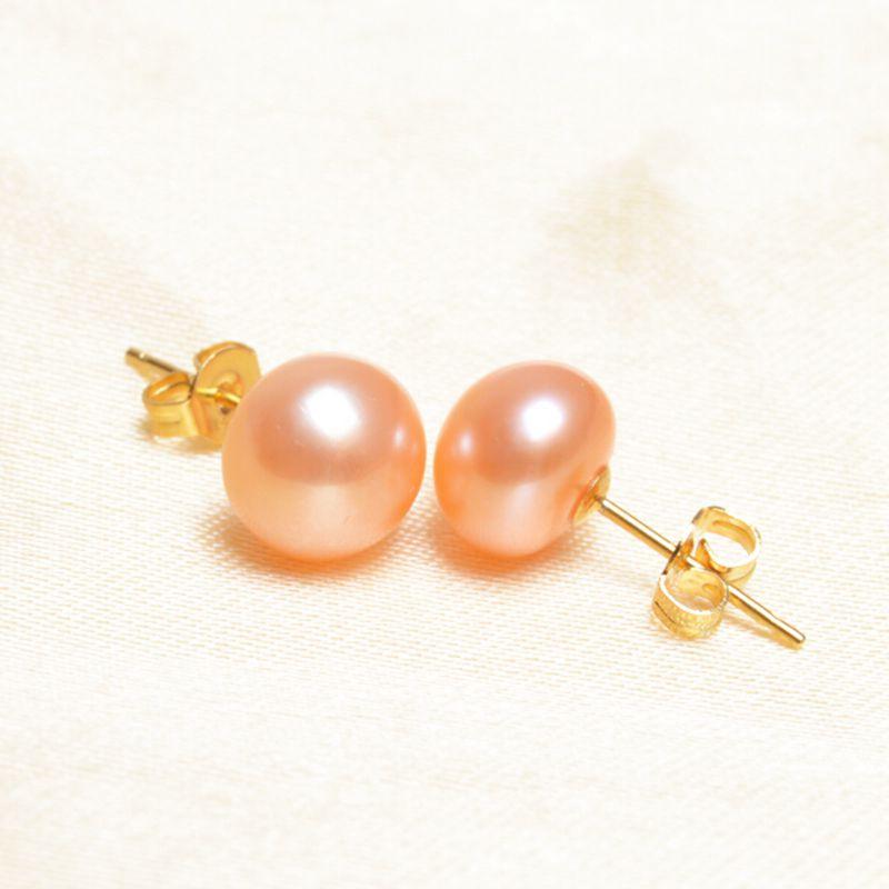 ASHIQI äkta naturliga sötvattenspärla örhängen för kvinnor, vit - Fina smycken - Foto 2