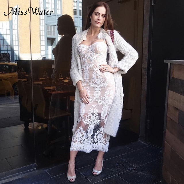 dd0798a198e Miss Water 2018 Summer Women Dress Shoulder Sexy Floral Casual Dress Club  Beach Bandage Casual Night longParty Dresses Vestidos