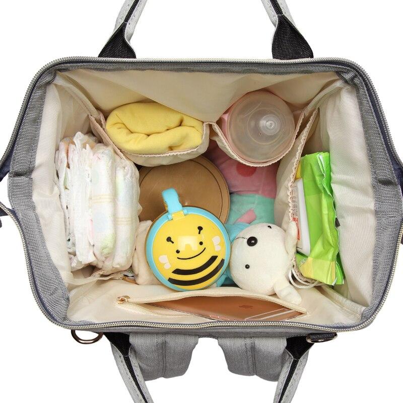 HTB129jHs79WBuNjSspeq6yz5VXaJ Fashion Mummy Striped Maternity Nappy Bag Large Capacity Baby Bag Bolsa Maternidade Designer Nursing Bag For Mother Baby Diaper