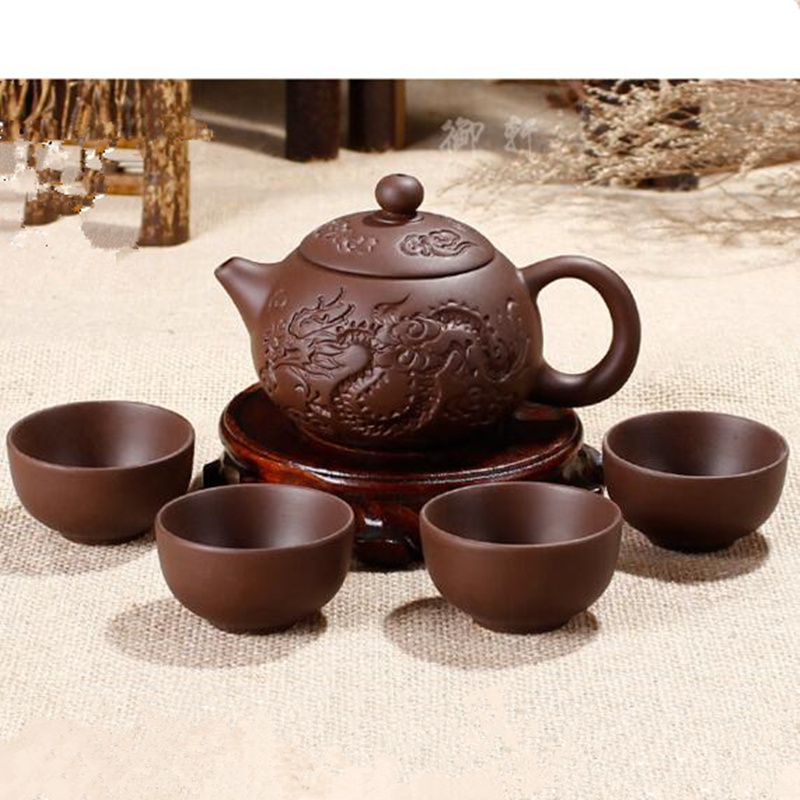 Hot Sale Ceramic Purple Clay Tea Set Kung Fu Pot Infuser
