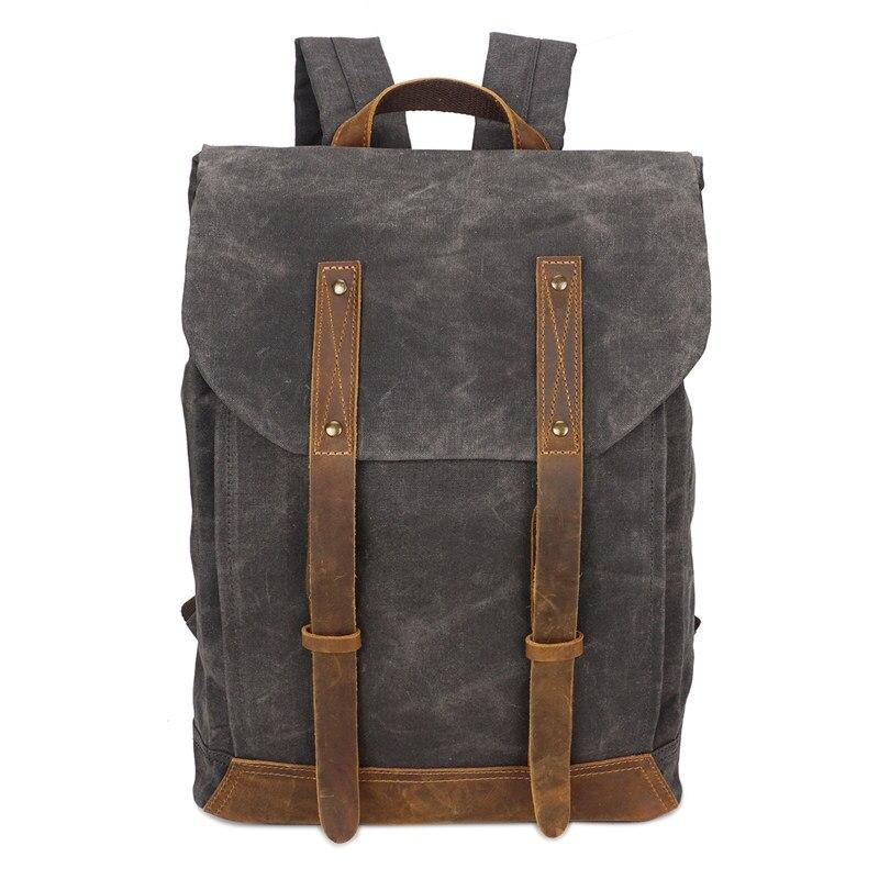 Nesituขนาดใหญ่วินเทจสีกากีสีเทาสีเขียวทหารผ้าใบผู้ชายเป้ผู้หญิงกระเป๋าเป้สะพายหลัง14 ''แล็ปท็อปผู้ชายกระเป๋าเดินทาง# M5162-ใน กระเป๋าเป้ จาก สัมภาระและกระเป๋า บน   3
