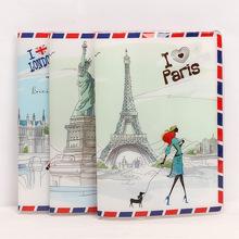 PVC Cartoon Travel akcesoria paszport okładka z rozmiarem 5 5 * 3 8-podróżować po świecie tanie tanio Akcesoria podróżne Kreskówki Pokrowce na paszport 5 5 cala do 0 05 kg 3 8 cala Skóra PU 0 3 cala Przyjaciele na zawsze