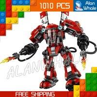 1010pcs New Ninja Fire Mech Battle Huge Robots 06052 Model Building Blocks Children Assemble Toys Bricks