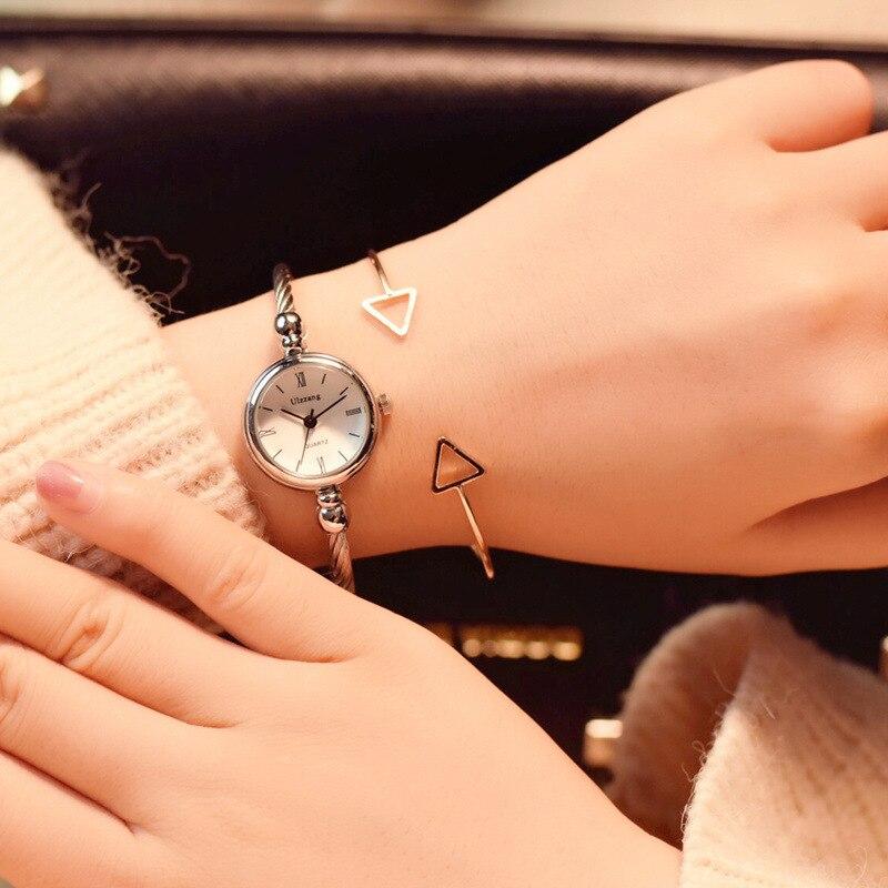 שעון צמיד זהב קוורץ Ulzzang 2