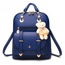 Женщины рюкзак высокое качество Искусственная кожа рюкзаки для девочек-подростков корейский стиль рюкзаки с милый медведь ноутбук Space ITA сумка