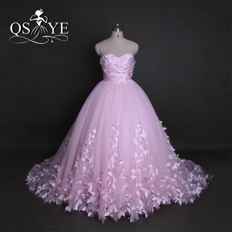 Puffy Pink Quinceanera Dresses Princess Cinderella 3d