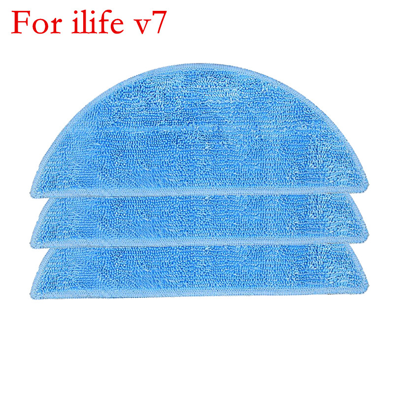 3pcs Mop Cloths for ILife V7 CHUWI V7 Cleaning Mop Pad Robot Vacuum Cleaner Parts Replacement 5 pcs lot chuwi ilife robot vacuum cleaner mop cloths for ilife v7s replacement mop cleaning robot vacuum cleaner mop