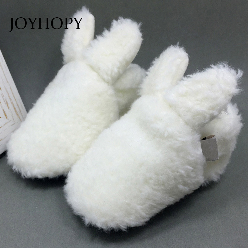 Cute Rabbit Newborn Baby Girls Boys Winter Warm First Walkers Soft Soled Infant Toddler Kids Girl Shoes