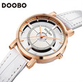 DOOBO Casual Watch Women Brand Luxury Quartz Watch Women Skeleton Montre Femme Clock Ladies White Watches Girls Relogio Feminino