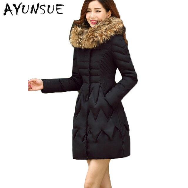 0c4d9cd0903 Down Coat Winter Jacket Women 70% White Duck Down Ultra Warm Skirt Bottom w
