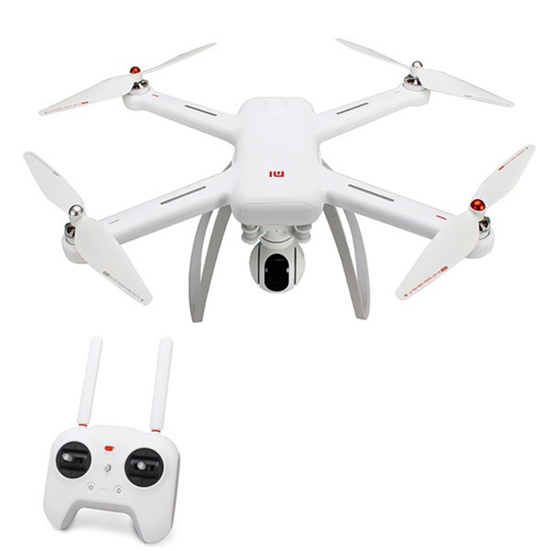 New Arrival Xiaomi Mi Drone WIFI FPV With 4K 30fps Camera 3-Axis Gimbal RC Quadcopter RTF with two batteries yuneec q500 4k camera with st10 10ch 5 8g transmitter fpv quadcopter drone handheld gimbal case