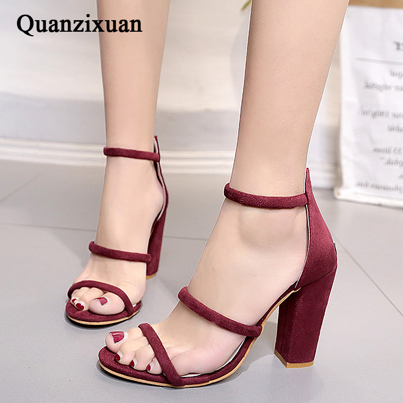 sandals Foreign trade shoes Large size High-heeled shoes summer high heeled shoes new packets of foreign trade big yards for women s shoes sandals of the lacquer that bake