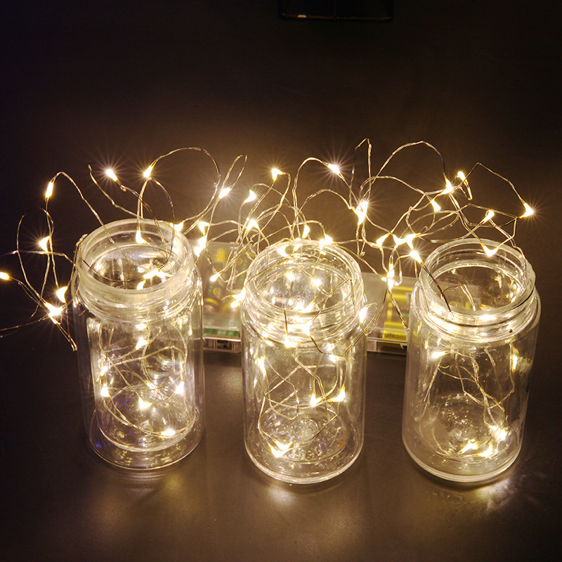 4M 40leds Fairy String Lights Lamp Battery Operated Mini LED Decorative Silver Color Copper Wire Holiday Lighting