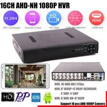 CCTV DVR Camera Analog/ahd Hybrid 16-Channel Security Mini 16CH HDMI Support 960P/1080P