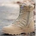 Ao ar livre Para Caminhadas Botas Para Homens Lace-up Botas Militares Táticas Anti-Colisão Toe Sapatos Botas de Deserto Do Exército Outono botas Sapatos Masculinos