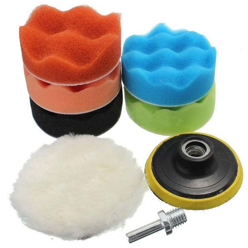 8 шт. полировальная Подушка полирующая пена автонакладка комплект автомобиля 4 дюйма Губка для полировки шлифовальный прибор буфер инструменты для чистки автомобиля губка для полировки