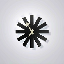 Home Decor/Designer Asterisk clock/black&white-silence/wall clock modern design/wall decor/wholesales/free shipping