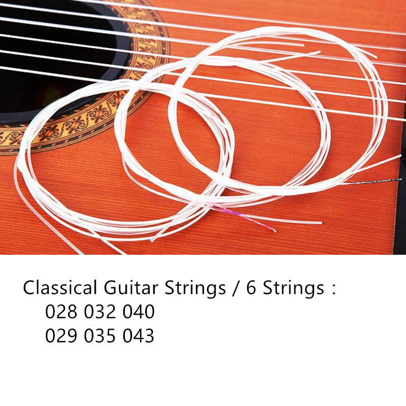 High Quality Classical Guitar Strings C27 Guitar String For 028 -043 Clear Nylon 1 Sets