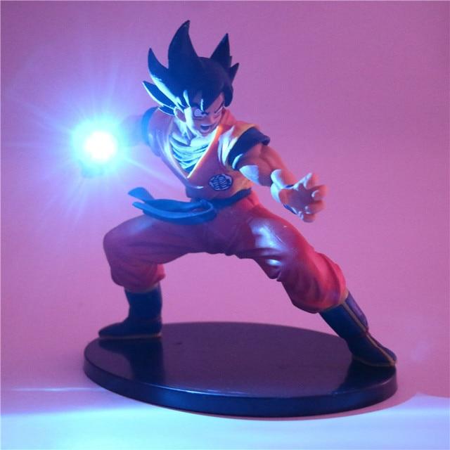Dragon Ball Z Son Goku Action Figures Led Lamp Diy Anime Model Table