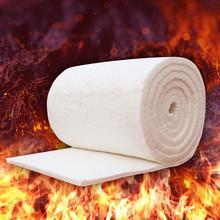 4 Sizes High Temperature Boiler Insulation Aluminum Silicate Needle Ceramic Fiber Insulation Refractory Fireproof Cotton Blanket все цены