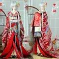 BJD Кукла одежда кимоно японский стиль нежный ветер красный кран морская волна 1/3 1/6 SD YOSD кукла аксессуары