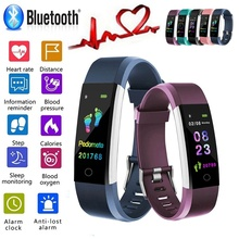 """Smart Wristband Fitness Bracelet Band 0.96"""" Touch Screen LCD Message Heart Rate Time Smartband IP67 Waterproof Wrist Band"""