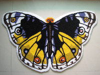 Yellow Butterfly Shaped Rugs Bedroom Bed Slip Mats Stylishly Decorated Living Room Doormat