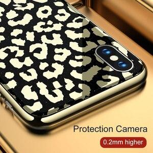 Image 3 - OTAO nouveau étui pour iphone 7 8 Plus 6 6 S étui pour iphone X XS MAX XR en verre plaqué léopard